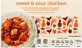 Sweet and sour chicken ready meal