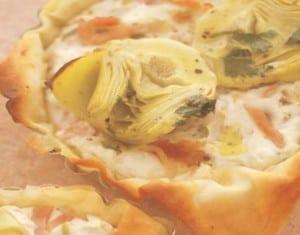 Bacon-artichoke-quark-tarts
