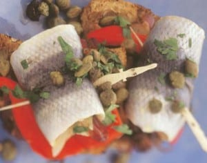 Rollmop and caper bruschetta NutriShield Multi Vitamins and Minerals