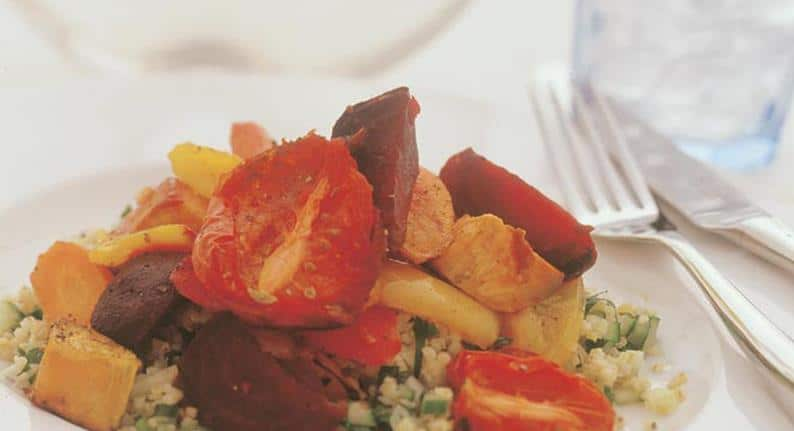 Roasted vegetables with cracked wheat salad NutriShield Multi Vitamins and Minerals