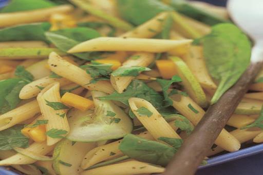 Spinach, pear and feta pasta salad NutriShield Multi Vitamins and Minerals