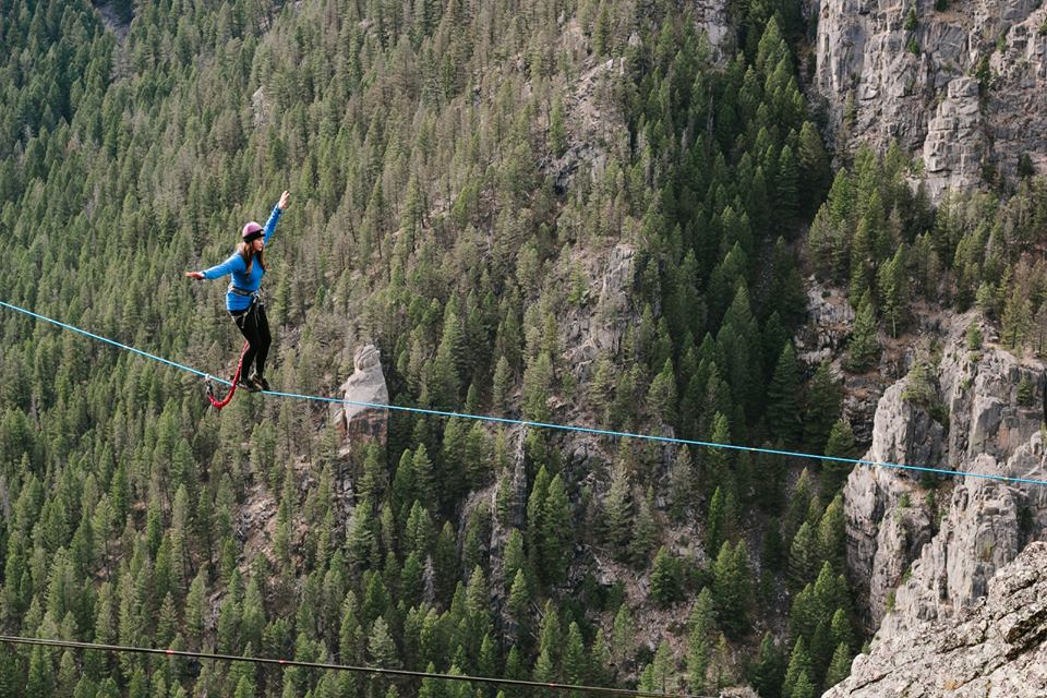 Highlining in Montana