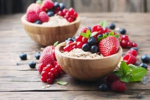 Oats withmix of berry on the wooden table NutriShield Multi Vitamins and Minerals