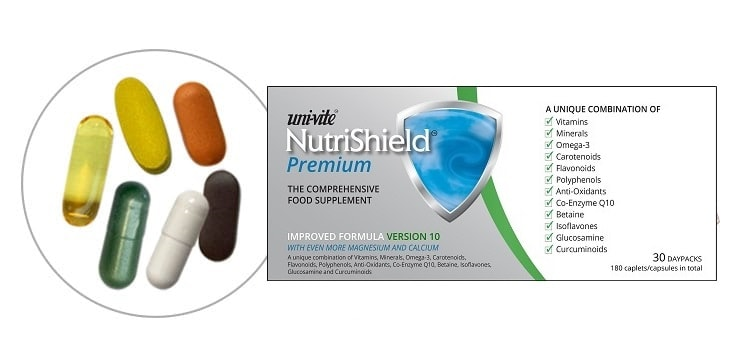 Formula ingredients NutriShield Multi Vitamins and Minerals
