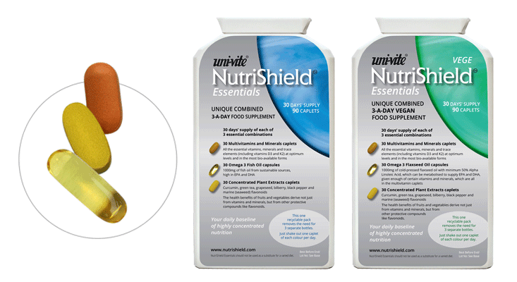 Essentials complete vitamin supplement NutriShield Multi Vitamins and Minerals